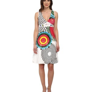 Женское платье Desigual Love Knitted Dress with Straps White